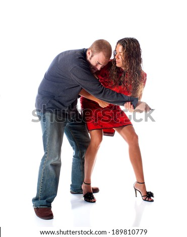Self Defense Moves - stock photo