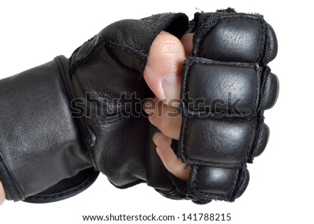 self defense training gloved hand female