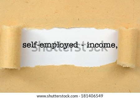 Self employed - income - stock photo