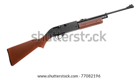 Self-loading hunting rifle isolated on a white background. - stock photo