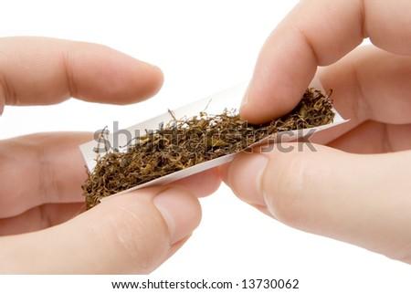Self-made Cigarette - stock photo
