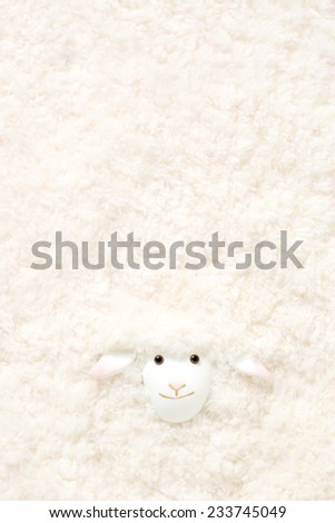 Self-made sheep of craft, Japan's New Year material, - stock photo