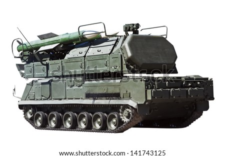"self-propelled air defense fire setting ""Buk-M2"" - stock photo"