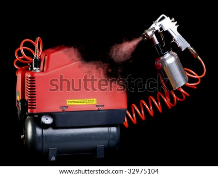 Self-replicating compressor drawing itself. - stock photo