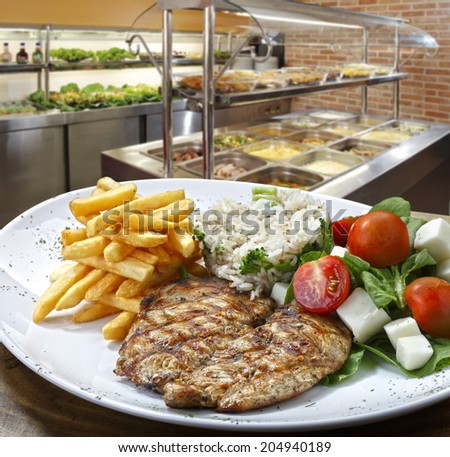 Self service food - stock photo