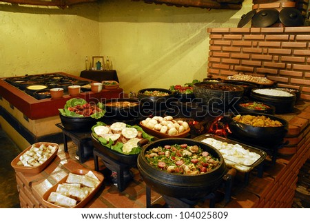 Self-service restaurant - stock photo