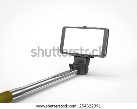 selfie stick monopod with mobile phone