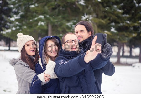 Selfie time! - stock photo