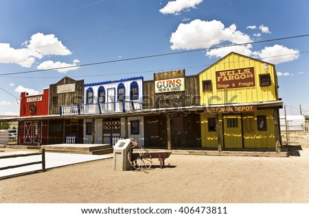 SELIGMAN, USA - JUL 8, 2008: The Historic Seligman depot in Seligman, AZ, USA on Historic Route 66. Built in 1904, today, Seligmans depot is the best original western facade all over Route 66.