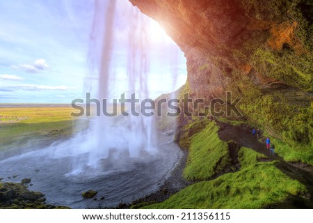 Seljalandfoss waterfall, Iceland - stock photo