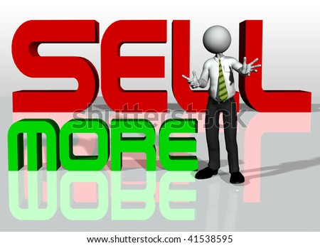 sell more - stock photo