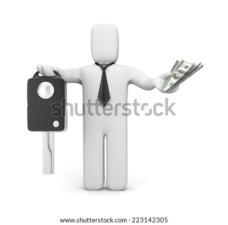 Sell or buy car - stock photo