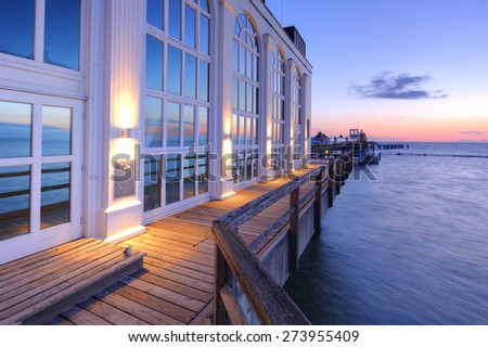 Sellin Pier of Rugen island - stock photo