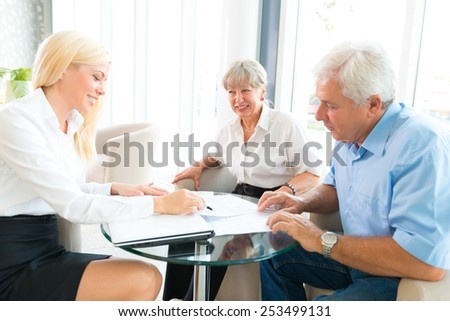 Selling insurance - stock photo