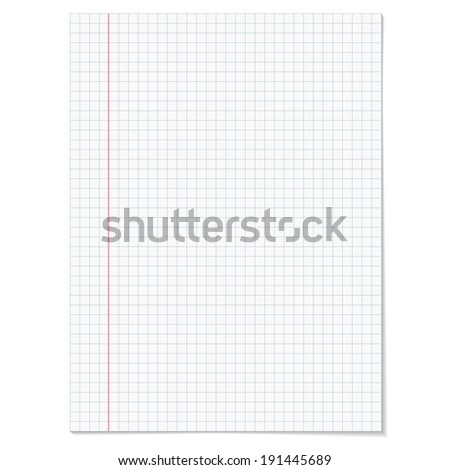 Sells notebook paper on white  background.
