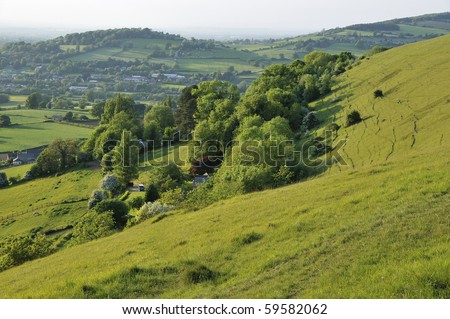 Selsley Common, Doverow Hill & Stonehouse, Stroud, Gloucestershire - stock photo