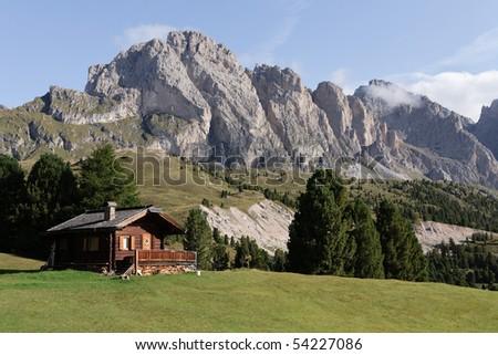 Selva Di Val Gardena - Dolomites - stock photo