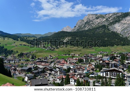 Selva di val Gardena, Italy.Val Gardena is a valley in the Dolomites of northern Italy.