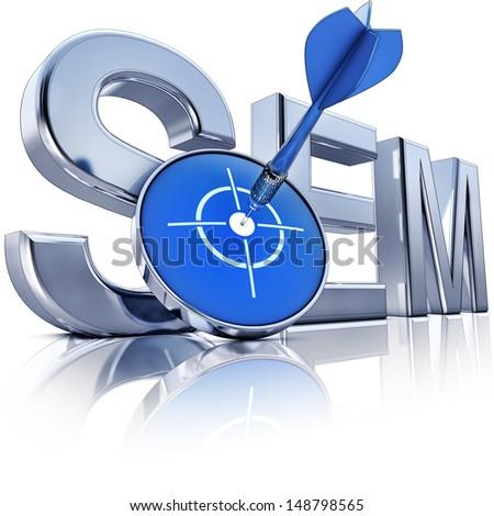 SEM icon - stock photo