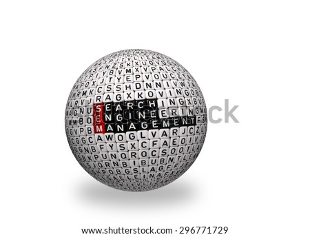 SEM Search Engine Management written on 3d sphere - stock photo