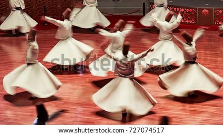 Semazen or Whirling Dervishes, Konya