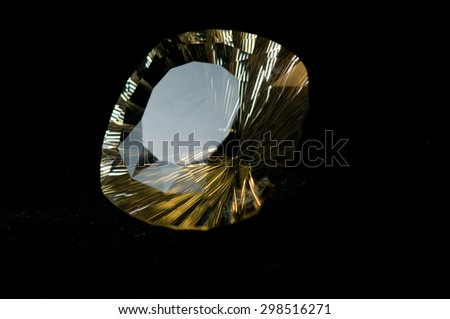 semi precious gemstone citrine mineral sample - stock photo