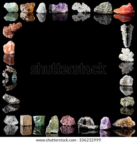 Semi-precious gemstones, metals and minerals. - stock photo