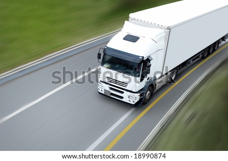 semi trailer - stock photo