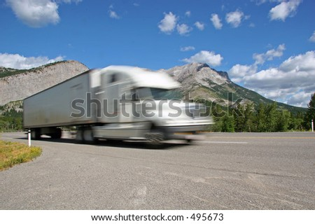 Semi Trailer in Motion