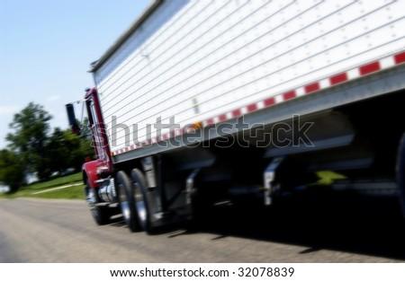 Semi Truck - stock photo