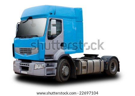 Semi Truck Cab - stock photo