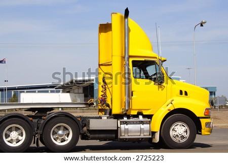 Semi truck cabin - stock photo