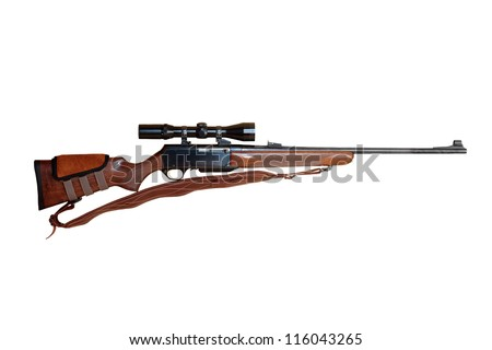Semiautomatic hunting rifle large caliber equipped with optical