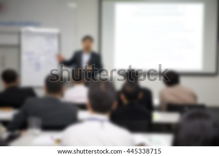 seminar blur images in conference room - stock photo