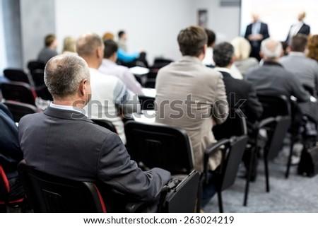 Seminar, Classroom, Adult. - stock photo