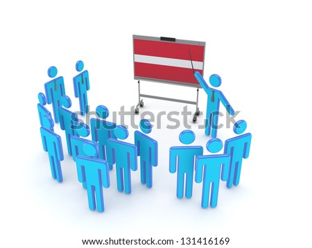 Seminar concept.Isolated on white.3d rendered. - stock photo