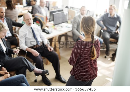 Seminar Meeting Office Working Corporate Leadership Concept - stock photo
