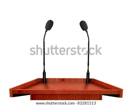 Seminar podium - stock photo