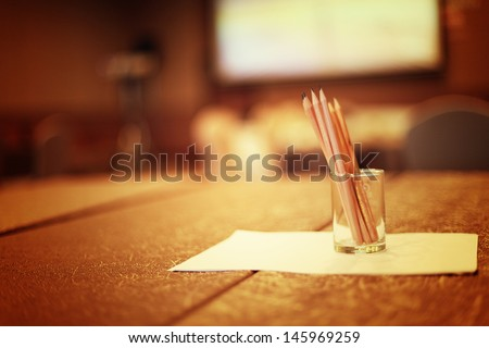 Seminar room - stock photo