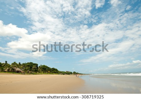 Seminyak Beach, in  Bali, Indonesia - stock photo