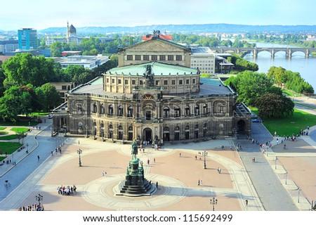 Semper Opera House in Dresden, Germany. - stock photo