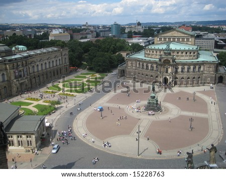 Semper Opera House in Dresden, Germany - stock photo