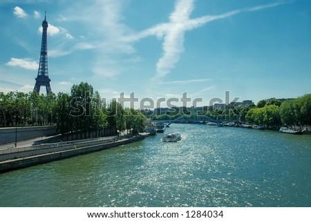 Sena River Scene - stock photo