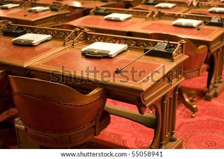 Senate Desks - stock photo