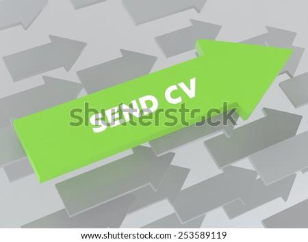 SEND CV - stock photo