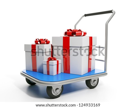 Send gifts. Group gifts are on the trolley