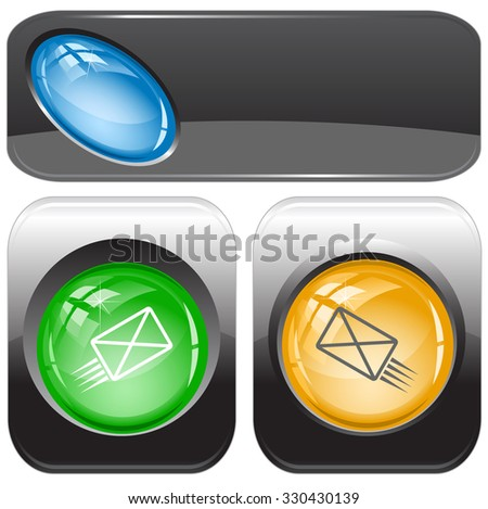 send mail. Raster internet buttons. - stock photo