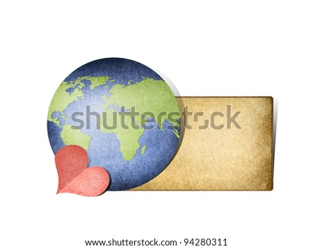 Send  message to the world - stock photo