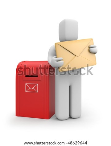 Send the letter - stock photo