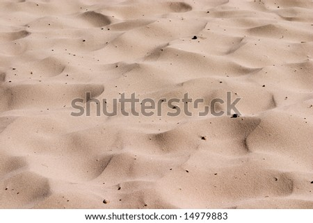 Send waves on sea beach as abstract texture - stock photo